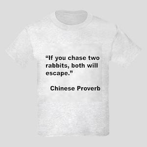 Chinese Rabbit Proverb Kids Light T-Shirt