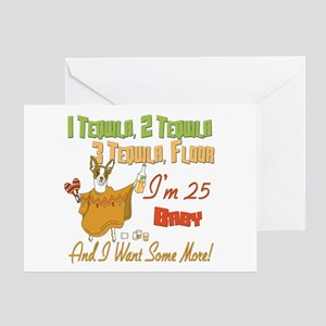 Tequila 25th Greeting Card