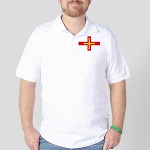 Guernsey flag Golf Shirt