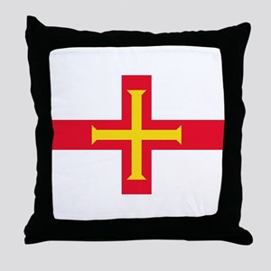 Guernsey flag Throw Pillow