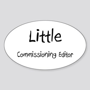 Little Commissioning Editor Oval Sticker