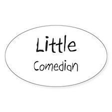 Little Comedian Oval Sticker
