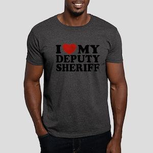 I Love My Deputy Sheriff Dark T-Shirt