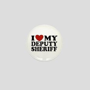 I Love My Deputy Sheriff Mini Button