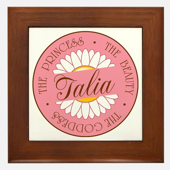 Talia Princess Beauty Goddess Framed Tile