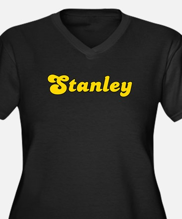 Retro Stanley (Gold) Women's Plus Size V-Neck Dark