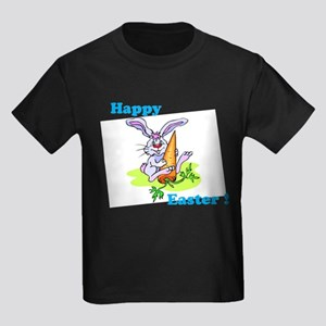 Blue Happy Easter Bunny T-Shirt