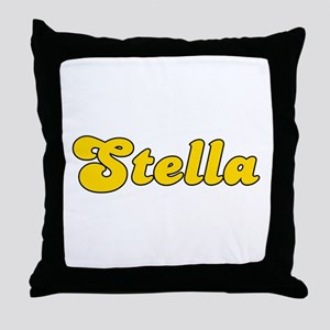 Retro Stella (Gold) Throw Pillow
