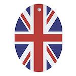 UNION JACK UK BRITISH FLAG Keepsake (Oval)