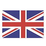 UNION JACK UK BRITISH FLAG Postcards (Package of 8