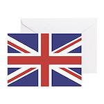 UNION JACK UK BRITISH FLAG Greeting Cards (Package