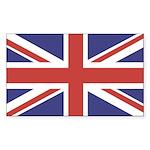 UNION JACK UK BRITISH FLAG Rectangle Sticker