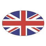 UNION JACK UK BRITISH FLAG Oval Sticker