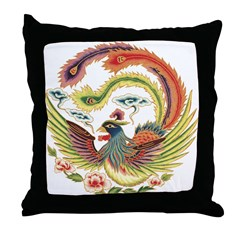 Luck Rooster Throw Pillow
