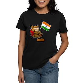 India Teddy Bear Women's Dark T-Shirt