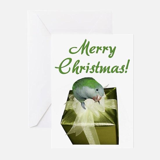 Quaker Parrot Merry Christmas Cards (10 Pk)