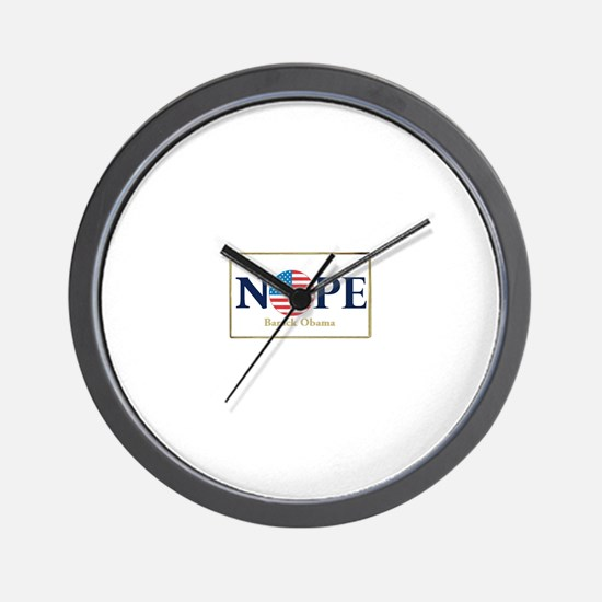 Obama NOPE Wall Clock
