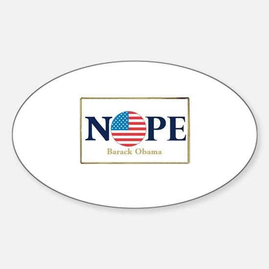 Obama NOPE Oval Decal