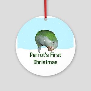 Quaker Parrot's First Christmas Ornament