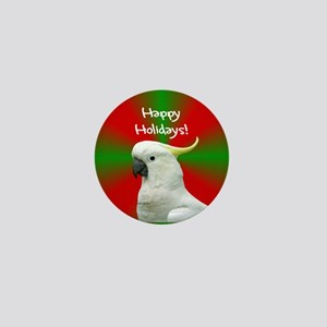 Cockatoo Happy Holidays Christmas Mini Button
