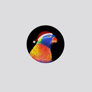 Rainbow Lory Holiday Mini Button