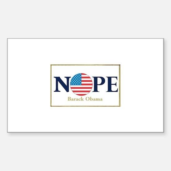Obama NOPE Rectangle Sticker 10 pk)
