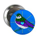 """Violet-green Swallow 2.25"""" Button (10 pack)"""