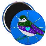 "Violet-green Swallow 2.25"" Magnet (10 pack)"