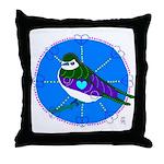 Violet-green Swallow Throw Pillow