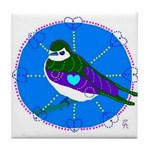 Violet-green Swallow Tile Coaster