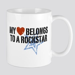 My Heart Belongs to a Rockstar Mug