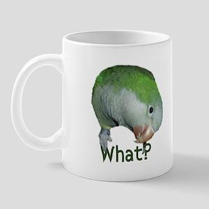 """Quaker Parrot """"What?"""" Mug"""