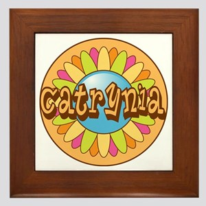 Catrynia Name Bright Flower Framed Tile