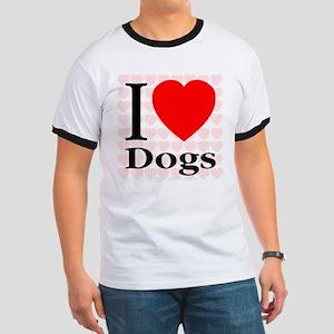 I Love Dogs Ringer T