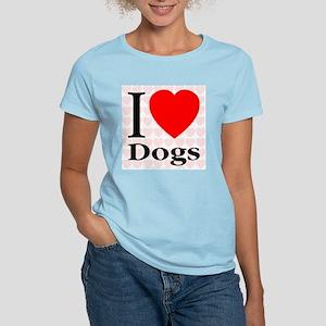 I Love Dogs Women's Pink T-Shirt