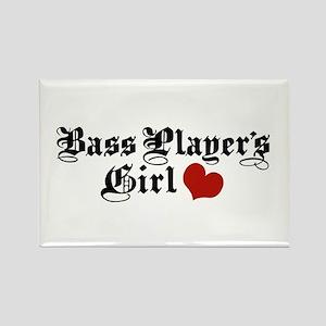 Bass Player's Girl Rectangle Magnet