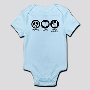 Peace Love Rock and Roll Infant Bodysuit
