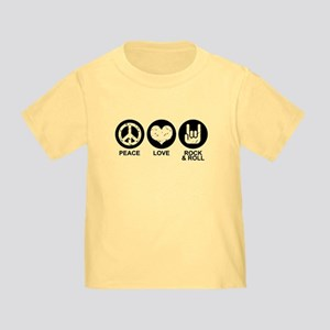 Peace Love Rock and Roll Toddler T-Shirt