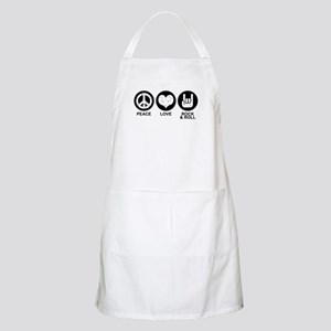 Peace Love Rock and Roll BBQ Apron