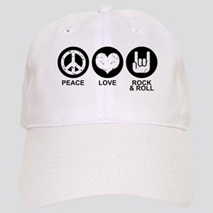 Peace Love Rock and Roll Cap