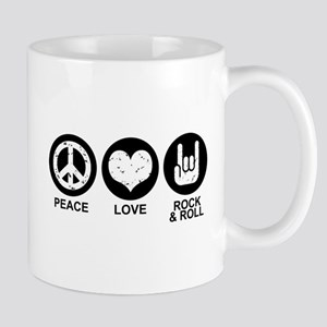 Peace Love Rock and Roll Mug