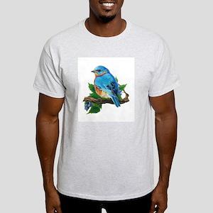 """Ash Grey T-Shirt """"Berry Bluebird"""""""