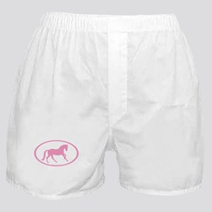 Pink Canter Horse Oval Boxer Shorts
