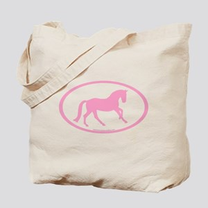 Pink Canter Horse Oval Tote Bag