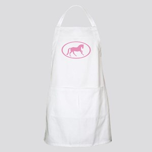 Pink Canter Horse Oval BBQ Apron