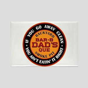Dad's Backyard Bar-b-que Pit Rectangle Magnet