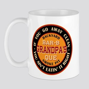 Grandpa's Backyard Bar-b-que Pit Mug