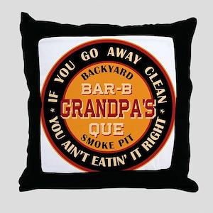Grandpa's Backyard Bar-b-que Pit Throw Pillow