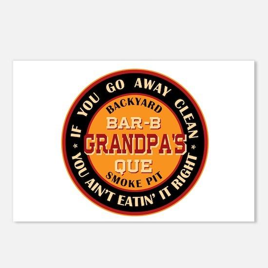 Grandpa's Backyard Bar-b-que Pit Postcards (Packag