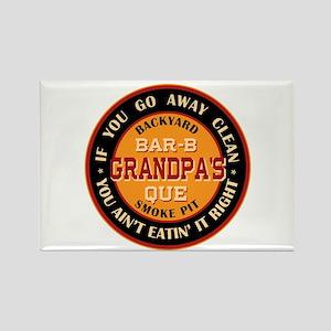 Grandpa's Backyard Bar-b-que Pit Rectangle Magnet